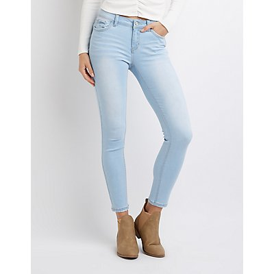 Stretchy Mid-Rise Skinny Jeans