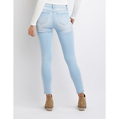 Stretchy Mid Rise Skinny Jeans