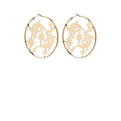 Pisces Hoop Earrings