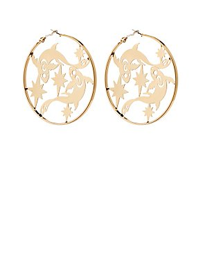 Pisces Hoop Earrings
