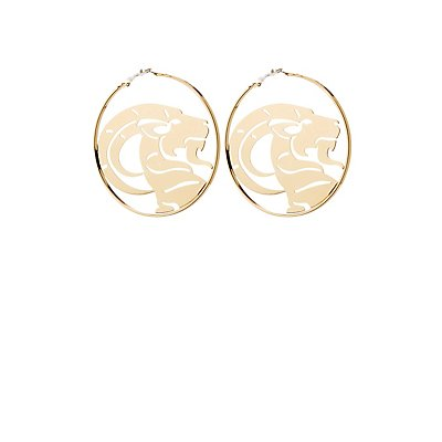 Capricorn Hoop Earrings