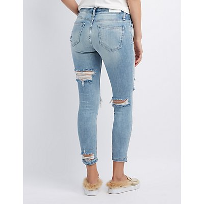 Cello Destroyed Crop Skinny Jeans