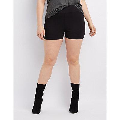 Plus Size High-Rise Bike Shorts
