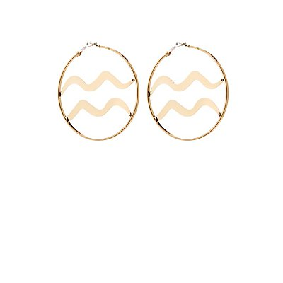 Aquarius Hoop Earrings