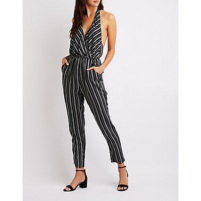 Striped Halter Jumpsuit