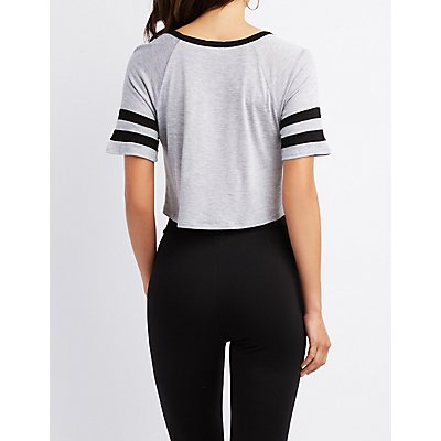 Varsity Stripe Crop Top