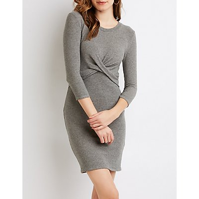 Twist-Detailed Bodycon Dress