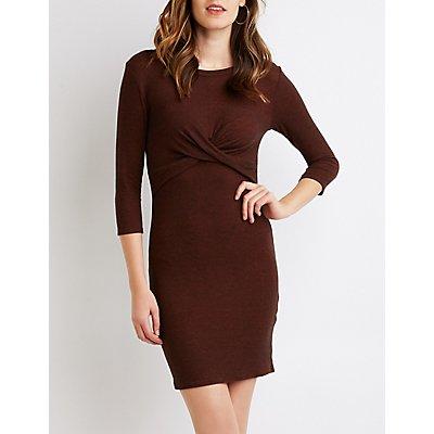 Twist-Detailed Bodycon Dress
