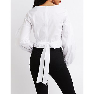 Back-Tie Crop Top