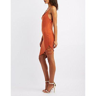 Cowl Neck Open-Back Dress