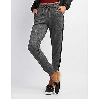 Striped Hacci Knit Jogger Pants