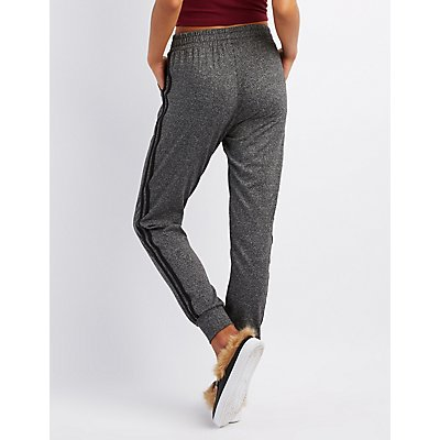 Striped Hacci Knit Jogger Pants