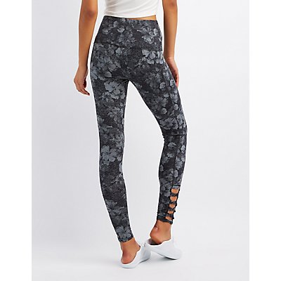 Slashed Stretch Leggings