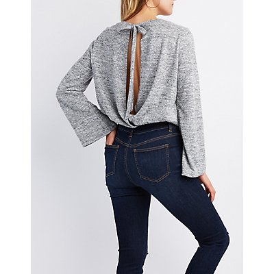 Wrapped Open-Back Top