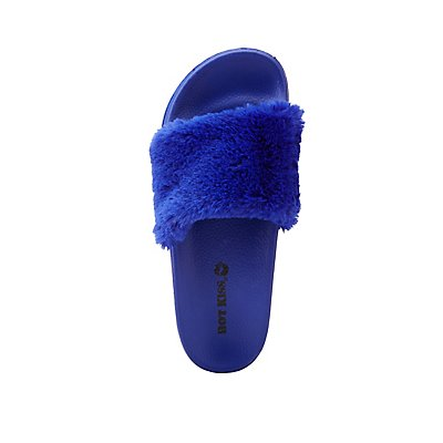 Faux Fur Slide Sandals