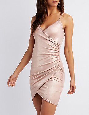 Liquid Bodycon Wrap Dress