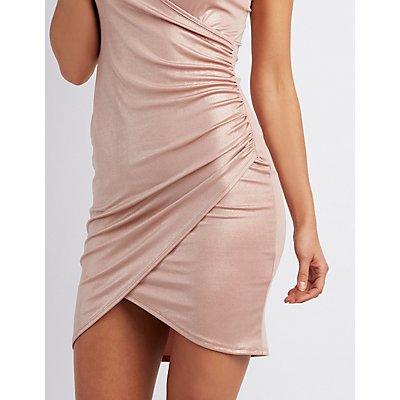 Liquid Bodycon Wrap Dress