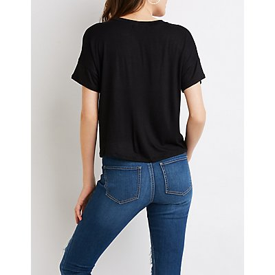 Cut-Out Graphic Tee