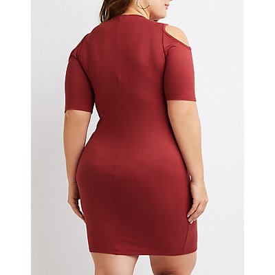 Plus Size Twist-Front Bodycon Dress