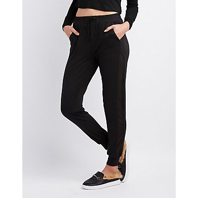 Mesh Accented Jogger Pants