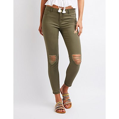 Refuge Destroyed Skin Tight Legging Jeans