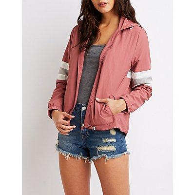 Varsity Stripe Hooded Jacket