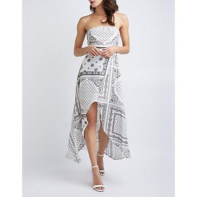 Bandana Hi-Low Maxi Dress