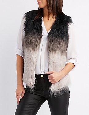 Ombre Faux Fur Vest