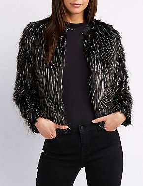 Faux Fur Spotted Jacket