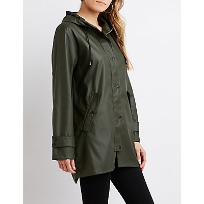 Lightweight Hooded Raincoat
