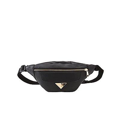 Faux Leather Adjustable Belt Bag