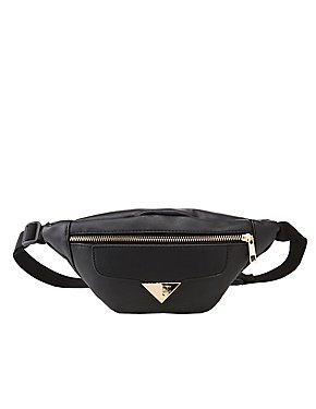 Faux Leather Adjustable Belt Bag