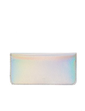 Metallic Faux Leather Wallet