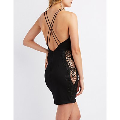 Crochet-Detailed Bodycon Dress