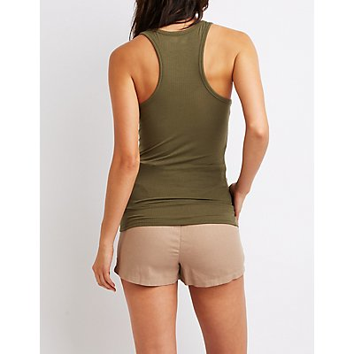 Ribbed Racerback Tank Top
