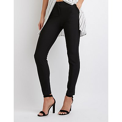 Ruffled-Trimmed Skinny Trousers