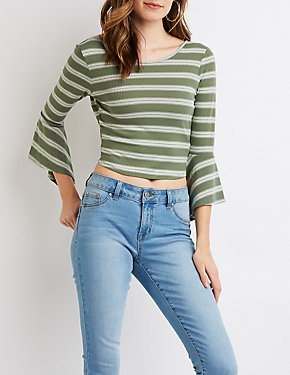 Striped Back-Tie Top