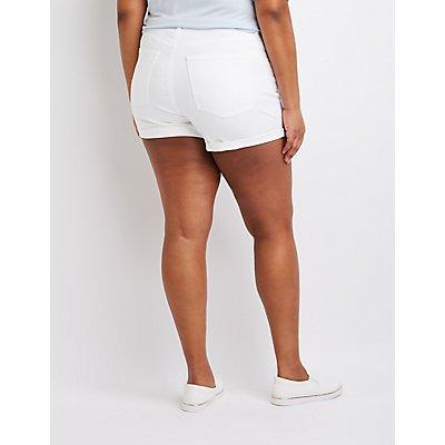 Plus Size Refuge Destroyed Girlfriend Shorts