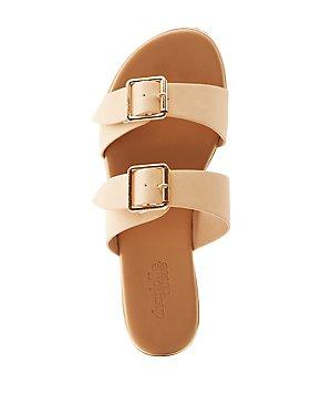 Buckle Band Slide Sandals