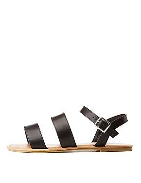 Triple Strap Flat Sandals