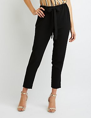 Bow-Detailed Skinny Trousers