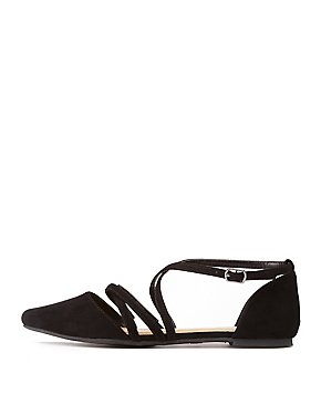 Strappy Pointed Toe Flat Sandals