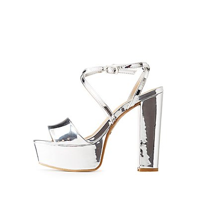 Bamboo Metallic Platform Sandals
