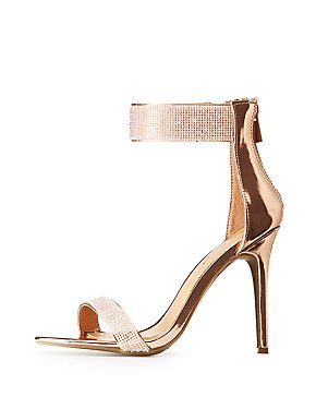 Crystal Two-Piece Dress Sandals