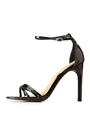 d751000b25d Faux Patent Leather Ankle Strap Dress Sandals