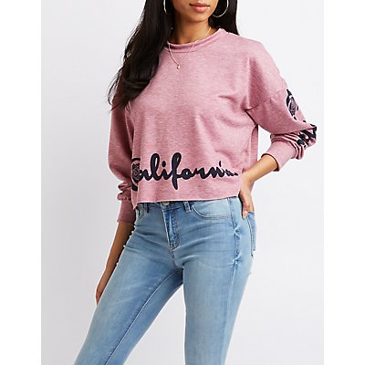 California Graphic Crop Sweatshirt
