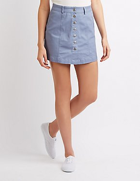 Button-Up Mini Skirt