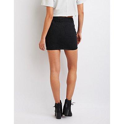 Refuge Belted Denim Mini Skirt