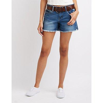 Dollhouse Frayed Denim Shorts