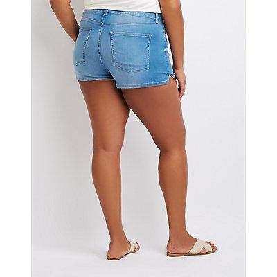 Plus Size Refuge Hi-Rise Cheeky Shorts